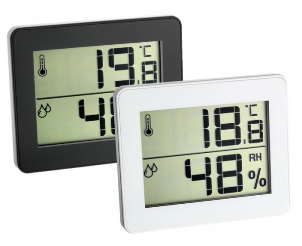 Tile temperature and humidity display