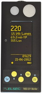 7650 lux and UV meter