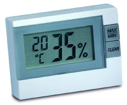 HK55 temperature and humidity display - white
